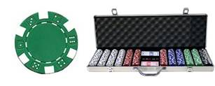 600 Dice 13.5g Clay Casino Poker Chip Case Set